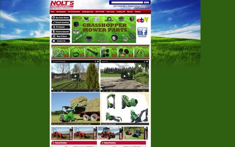 Screenshot of Home Page noltspower.net - Nolt's Power Equipment | Lawn Mower Parts | Quick Shipping | Quality Outdoor Power Equipment | Snowblowers | Leaf Blowers | Compact Tractors | 4X4 Utiliy Vehicles | Lawn and Garden Riding Mowers - captured Oct. 6, 2014