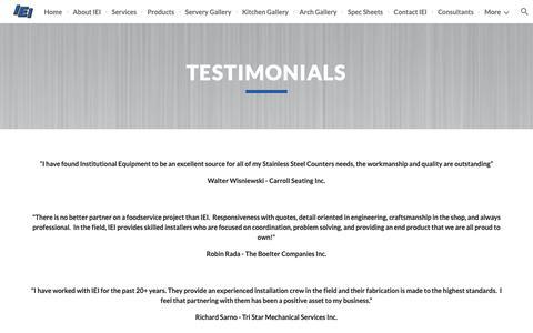 Screenshot of Testimonials Page google.com - Testimonials - captured Oct. 12, 2018