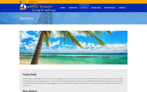 Screenshot of Services Page wttfll.com - Wttfll.com   » Services - captured Oct. 27, 2014