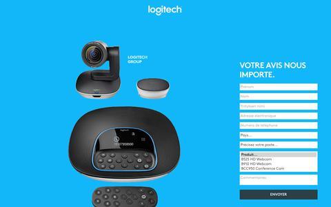Screenshot of Landing Page logitech.com - Logitech | Contact Us - captured July 23, 2017