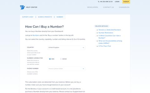 How Can I Buy a Number? – Support & Help