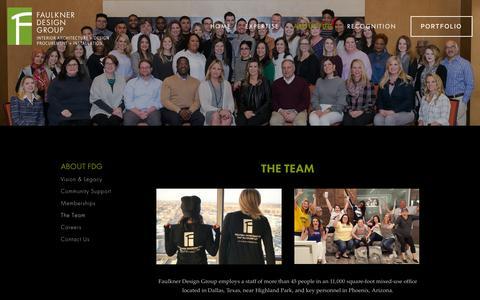 Screenshot of Team Page faulknerdesign.com - Faulkner Design Group — The Team - captured Feb. 13, 2019