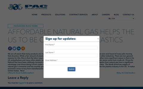 Screenshot of Pricing Page pac.com - Affordable Natural Gas helps the US to be competitive in Plastics - PAC Worldwide - captured Nov. 5, 2019