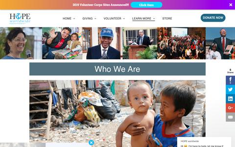 Screenshot of About Page hopeww.org - HOPE worldwide says… - captured Dec. 13, 2018