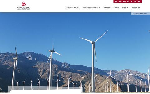 Screenshot of Locations Page availon.com - Locations- Availon GmbH (United States) - captured Nov. 21, 2016