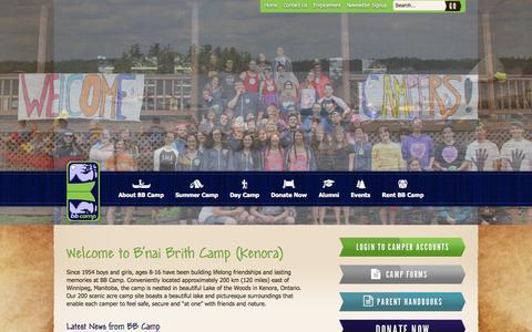 Screenshot of Home Page bbcamp.ca - BB Camp - captured Sept. 19, 2015