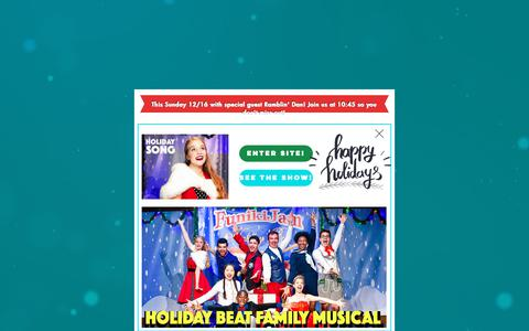 Screenshot of Home Page funikijam.com - amazing-kids-music - captured Dec. 19, 2018