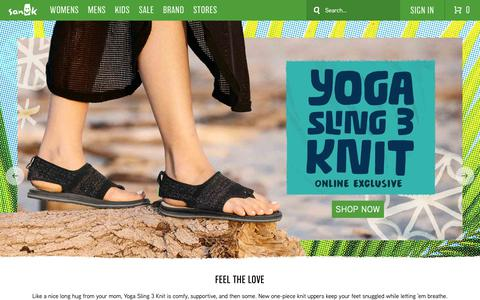 Screenshot of Home Page sanuk.com - Sidewalk Surfers®, Sandals, Shoes, and More! | Sanuk® - captured April 8, 2019