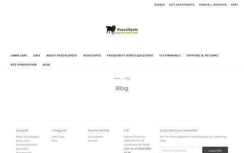 Screenshot of Blog rascalspots.com - Blog - captured Oct. 18, 2018