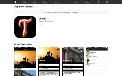 Teem! on the AppStore