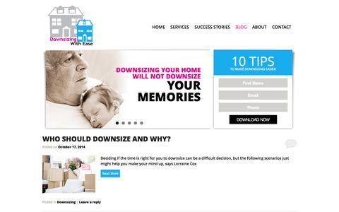 Screenshot of Blog downsizingwithease.com.au - Blog | Downsizing with Ease - captured Oct. 29, 2014