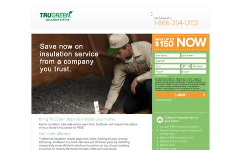 Screenshot of Landing Page trugreen.com - TruGreen Insulation Service | Save up to $150 - captured Aug. 22, 2016