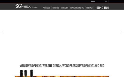 Screenshot of Home Page Press Page 561media.com - Custom Website Design   Google Partner   Boca Raton SEO - captured June 24, 2019