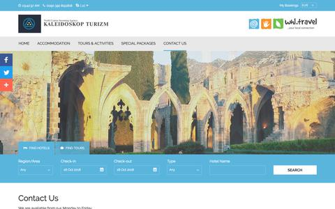 Screenshot of Contact Page north-cyprus.travel - North Cyprus Travel Agency - captured Oct. 23, 2018