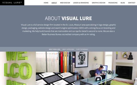 Screenshot of About Page visuallure.com - About Visual Lure, St. Louis Professional Eye-Catchers - captured Dec. 1, 2016