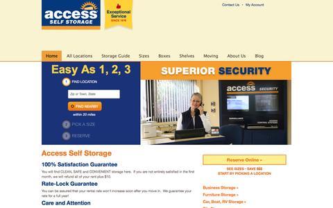 Screenshot of Home Page accessselfstorage.com - New Jersey Self Storage New York: Access Self Storage NJ NY - captured Nov. 20, 2016