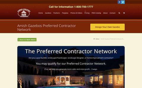 Preferred Contractor Network | Amish Country Gazebos