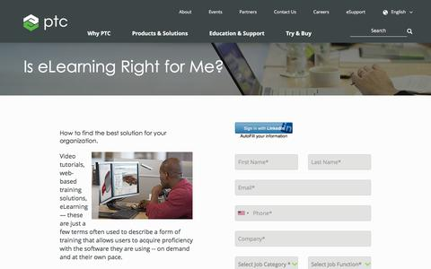 Is eLearning Right for Me? | PTC