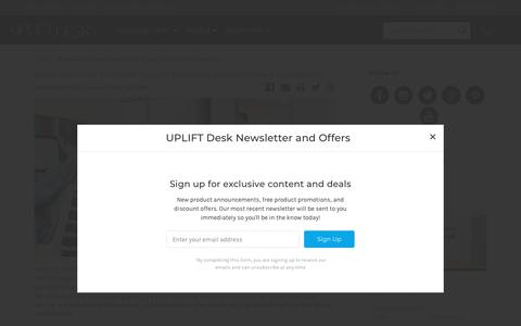 Screenshot of Blog upliftdesk.com - Standing Desk News, Product Info, & Health Tips | UPLIFT Desk Blog - captured Sept. 23, 2018