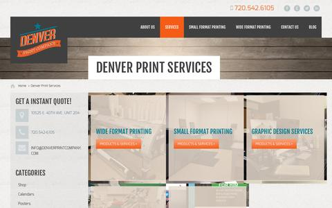 Screenshot of Services Page denverprintingcompany.com - Denver Print Services - Denver Print Company - captured Feb. 9, 2016