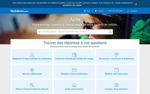 Screenshot of Contact Page rentalcars.com - Aide et Contact - Rentalcars.com - captured Nov. 12, 2018