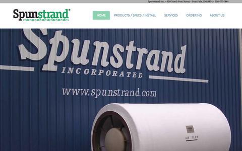 Screenshot of Home Page spunstrand.com - Fiberglass Duct bySpunstrand - captured Sept. 18, 2015