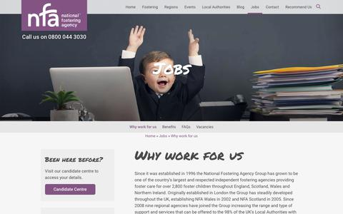Screenshot of Jobs Page nfa.co.uk - NFA: Why work for us - captured Oct. 18, 2018