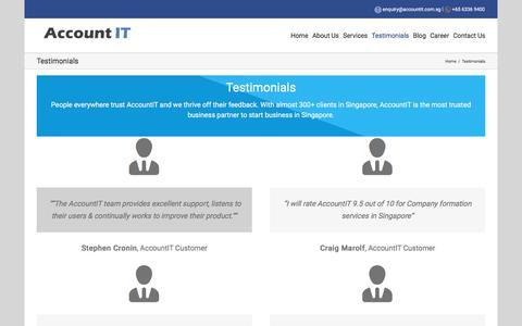 Screenshot of Testimonials Page accountit.com.sg - Testimonials - AccountIT Consultant Pte Ltd - captured Oct. 7, 2017