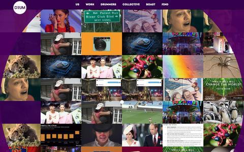 Screenshot of Home Page drum.co.uk - Drum - captured Oct. 13, 2017