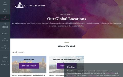Screenshot of Locations Page vrtx.com - Locations | Vertex Pharmaceuticals - captured April 11, 2017