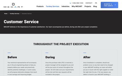 Screenshot of Support Page mecart.com - Customer Service | MECART - captured Oct. 2, 2018