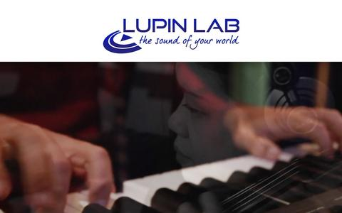 Screenshot of Services Page lupinlab.com - Services - Lupin Lab | Audio - Video - Design - captured July 18, 2016