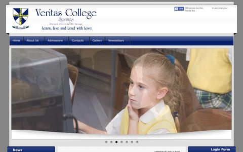 Screenshot of Home Page veritas.org.za - VERITAS COLLEGE - captured March 11, 2016