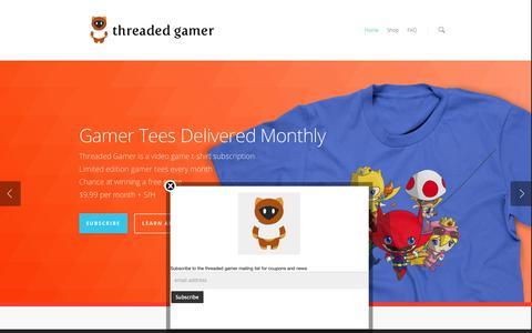 Screenshot of Home Page threadedgamer.com - Threaded Gamer - captured Oct. 9, 2014
