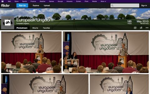 Screenshot of Flickr Page flickr.com - Flickr: Europeisk Ungdom's Photostream - captured Oct. 23, 2014