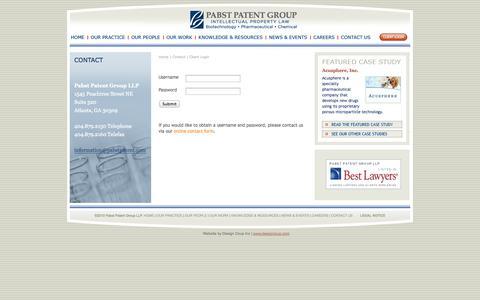Screenshot of Login Page pabstpatent.com - Pabst Patent Group - captured Oct. 1, 2014