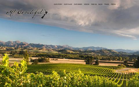 Screenshot of Home Page mtbeautiful.co.nz - Mt. Beautiful Homepage - Mt. Beautiful - North Canterbury - New Zealand - captured Oct. 7, 2014