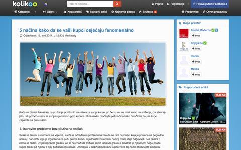 Screenshot of Blog kolikoo.com - Blog - kolikoo - captured Sept. 19, 2014