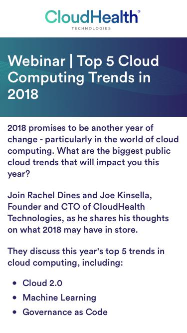 Webinar | Top 5 Cloud Computing Trends in 2018