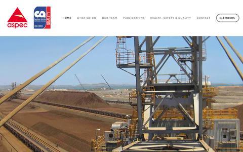 Screenshot of Home Page aspec.com.au - Aspec Engineering - captured Feb. 6, 2016
