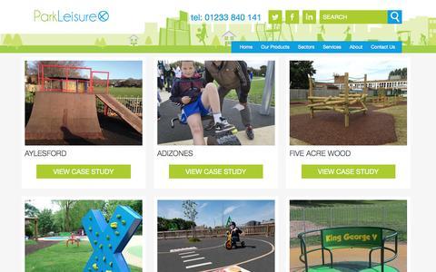 Screenshot of Case Studies Page parkleisure.com - Case Studies Archive - MUGA, Skate & Playground Manufacturer Park Leisure & Sport - captured Oct. 21, 2016