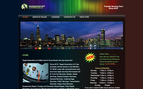 Screenshot of Home Page targetautollc.com - Home - captured Oct. 18, 2018