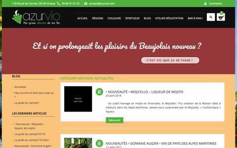 Screenshot of Blog azurvio.com - Archives des Actualités - Azurvio - captured Dec. 9, 2018