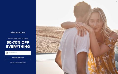 Guys and Girls Clothes, Hoodies, Graphic Tees and Jeans | Aeropostale