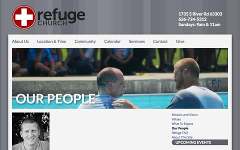 Screenshot of Team Page seekrefuge.net - Our People – Refuge Church - captured Oct. 1, 2014