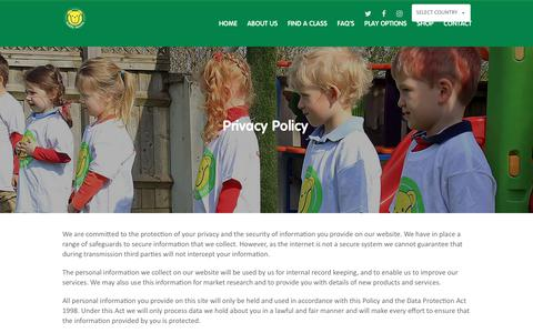 Screenshot of Privacy Page teddytennis.com - Privacy Policy | Teddy Tennis - Children's Tennis Lessons - captured Oct. 16, 2018