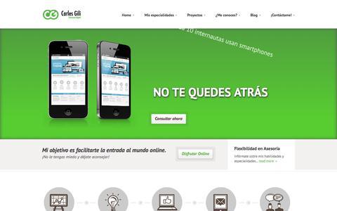 Screenshot of Home Page carlesgili.es - Especialista SEO y SEM | Entusiasta Digital | Carles Gili - captured Sept. 24, 2014