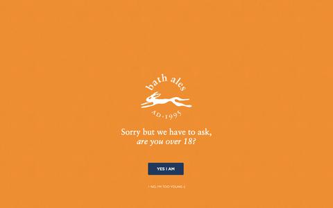 Screenshot of Signup Page bathales.com - Bath Ales | Loyal Hare Force - Sign-Up - captured Nov. 6, 2018