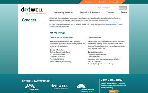 Screenshot of Jobs Page dotwell.org - Careers - DotWell - captured March 3, 2016