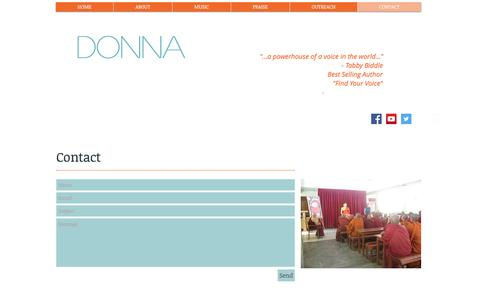 Screenshot of Contact Page donnakayfaulkner.com - DONNA:  Contact - captured Nov. 7, 2016